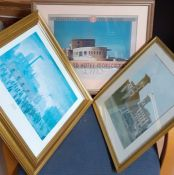 A group of three prints, one after-after Lowry, framed and glazed. (3)