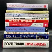 A selection of twelve relationship self help books