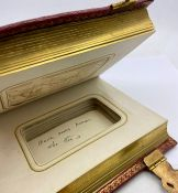 Two Victorian photo albums thought to be from late 19th century One book has 13 pictures in 25 pages