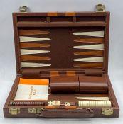 A Vintage backgammon set