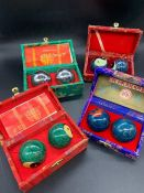 Four sets of two Chinese health balls
