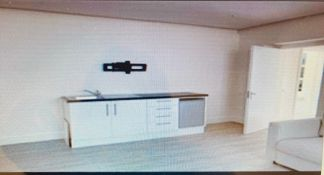 Small kitchen/utility room units including sink, drawers and fridge