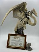 """A resin model of """"Snowthorn and Wargren"""" by Holland Stuido craft. The Enchantica collection, limited"""