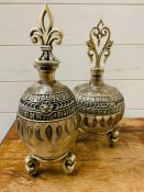 Two decorative vessels
