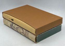 Two hardback cased short story books by the Folio Society