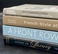 A group of four reference books on fashion and interiors