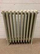 A traditional cast iron column radiator (H76cm W68cm D15cm)