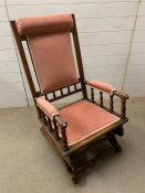 A Victorian spring rocking chair