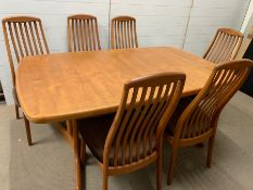 A Mid Century teak Ansager Mobler dining table