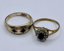 Two 9ct gold rings (4.5g)