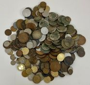 A selection of coins, various years, denominations and conditions.