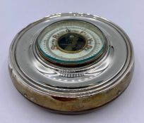 A Silver framed barometer (Chester Hallmark)