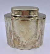 A small silver tea caddy by Peter Guille Ltd, hallmarked London 1937 (100g Total Weight)