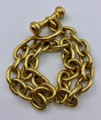 A substantial Continental 18ct gold Albert Chain (Total Weight 138g) 36cm L