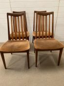 Four high back teak G-Plan chairs
