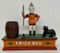 A Cast iron Trick Dog moneybox