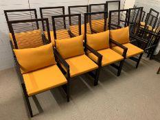 A Selection of Ten Bonacina 'Astoria' Arm chairs (Two As Found)