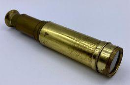 An Edward G Wood brass, four drawer telescope
