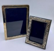 Two hallmarked silver picture frames