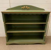 An open painted bookcase (H110cm W110cm D34cm)