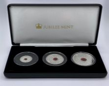 The 2020 Remembrance Day Solid Silver Proof Coin Collection, denomination £1, £2 and £5, weight 10g,