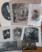 A group of 9 prints
