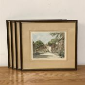 After Philip and Glyn Martin (act. XX) British, a collection of prints in watercolour paper of an
