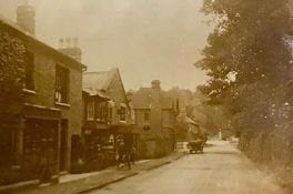 """A group of photographies of old pictures showing """"Brockenhurst road, South Ascot"""" and """"Silwood road,"""