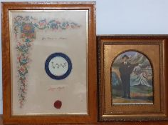 """A pair of christian images, """"Il gran Talismano de Artephius """" and another. (2)"""