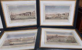 'London views', a set of 4 prints, framed and glazed, (25x39 cm).