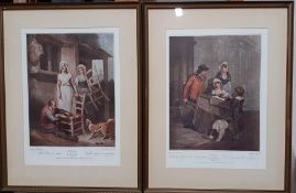 """A pair of prints after Francis Wheatley's """"Cries of London"""", (28x20 cm). (2)"""