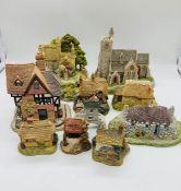 A selection of ten Lilliput Lane Cottage, Hebridean Hame, Wash Day, Bridge House, Kiln Cottage,