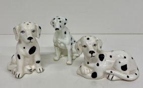 Dalmatian figures, two are cruets.