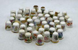 A selection of china thimbles
