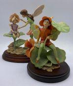 Two Border Fine Arts Fairy Figurines