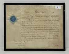 A Promotion warrant Dated 1915 William Henry Reynolds Company Sergeant Major 3rd Battalion