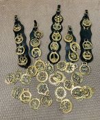 A selection of horse brasses