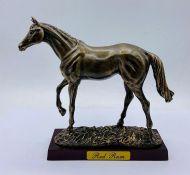 """Red Rum"" three times grand National winner statue"