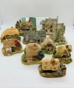 A selection of ten Lilliput Lane cottages, Watermill, Little Smithy, Cornflower Cottage, The Tudor
