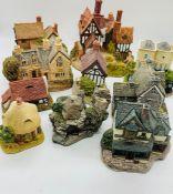 A selection of ten Lilliput Lane Cottages, Lakeside House, St Govan's Chapel, Moreton Manor, Acore