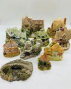 A selection of ten Lilliput Lane Cottages, St Govan's Chapel, Little Scrumpy, Little Summer House,