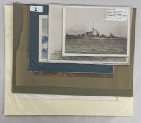 Military Interest: Three photos of Destroyers, HMS Leander, 2 x HMS Leander, 2 x HMS Iron Duke,