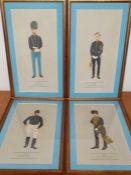 A group of 4 prints depicting military, (34x18 cm).