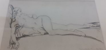 Sir William Russell Flint RA ROI (1880-1969) Scottish, 'Nude', printed by Bemrose and sons Ltd (