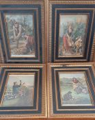 A group of four prints, framed and glazed, (22x15 cm). (4)