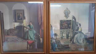 A pair of prints after Leonard Campbell Taylor RA