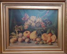 A print after Giuseppe Falchetti (1843-1918) Italia, 'Still Life', framed, (37x48 cm).