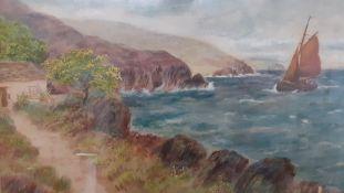 A watercolour signed: 'John S Fox', framed and glazed, (26x35 cm).