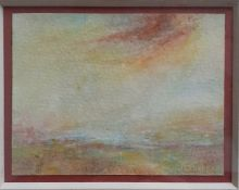 An Italian landscape by Peter Fantoni (according inscription verso), framed and glazed, (8x10.5