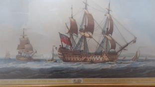 A group of three prints, (27x41 cm largest). (3)